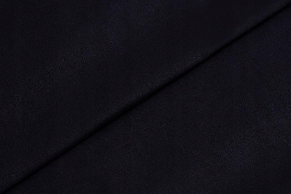 Черная гладкая хлопковая ткань - Motex