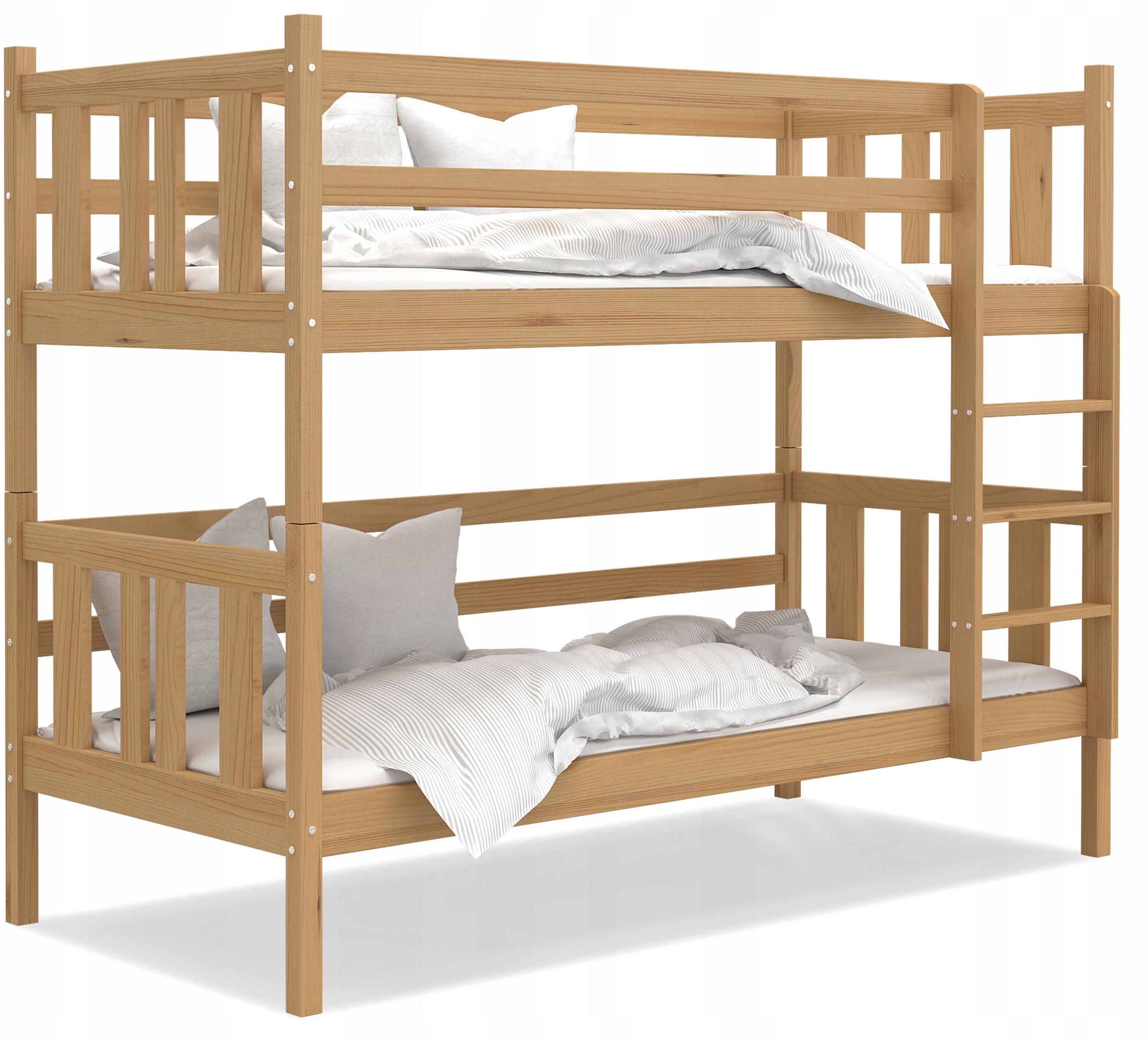 Łóżko piętrowe BOBO 180x80 olcha