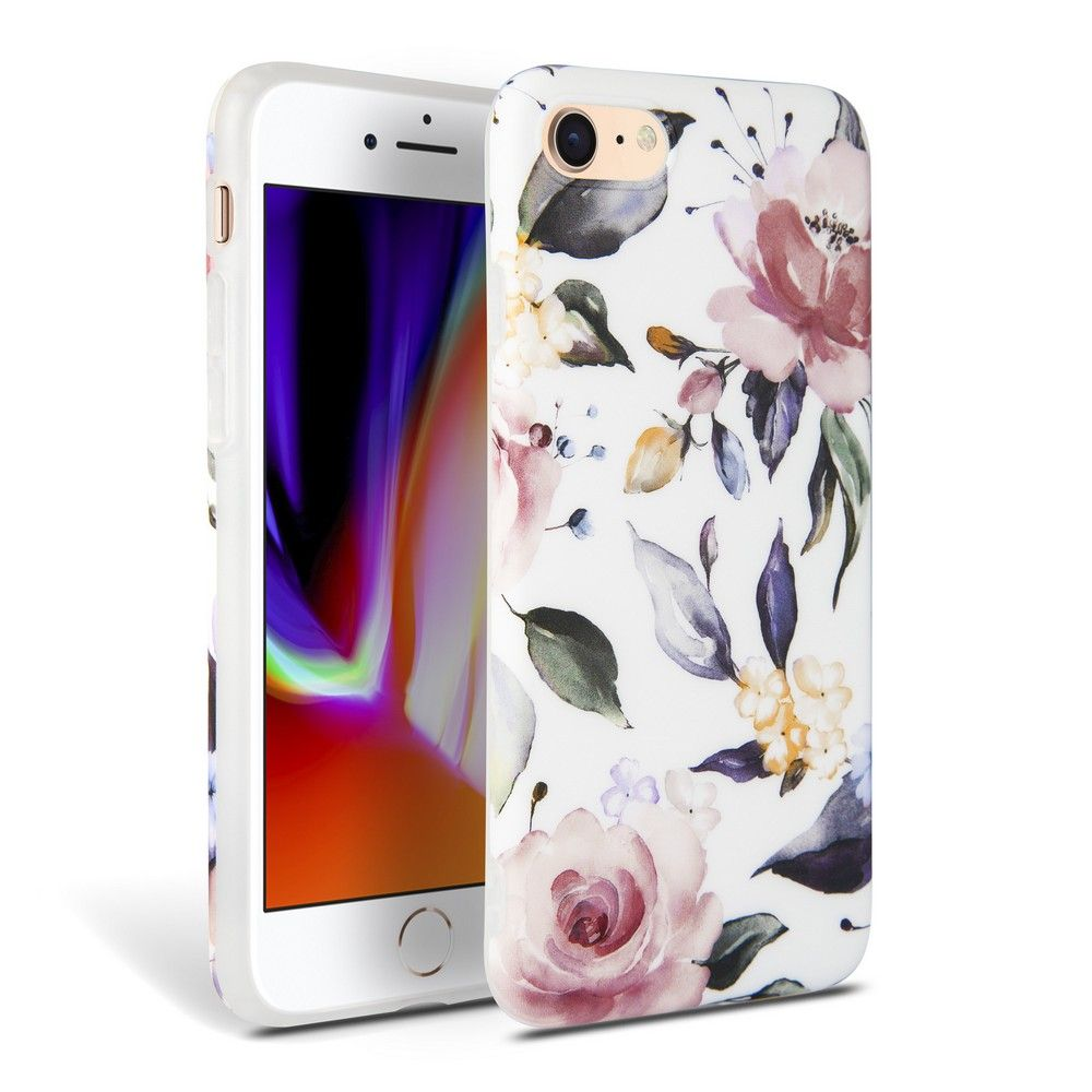 Tech-Protect Floral iPhone 7/8/SE 2020 biały