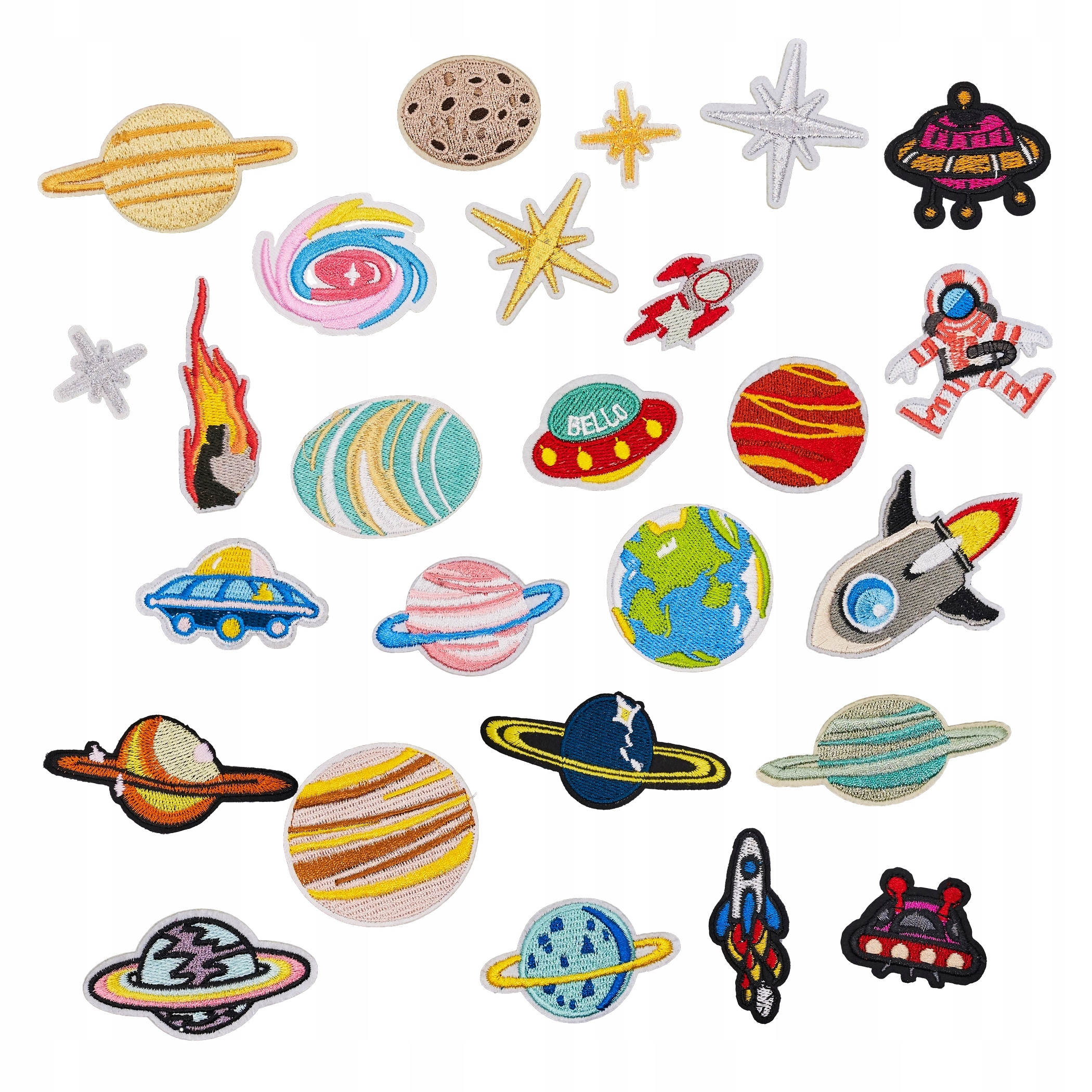 Item PLANET, SPACE, patches THERMO decals KIT