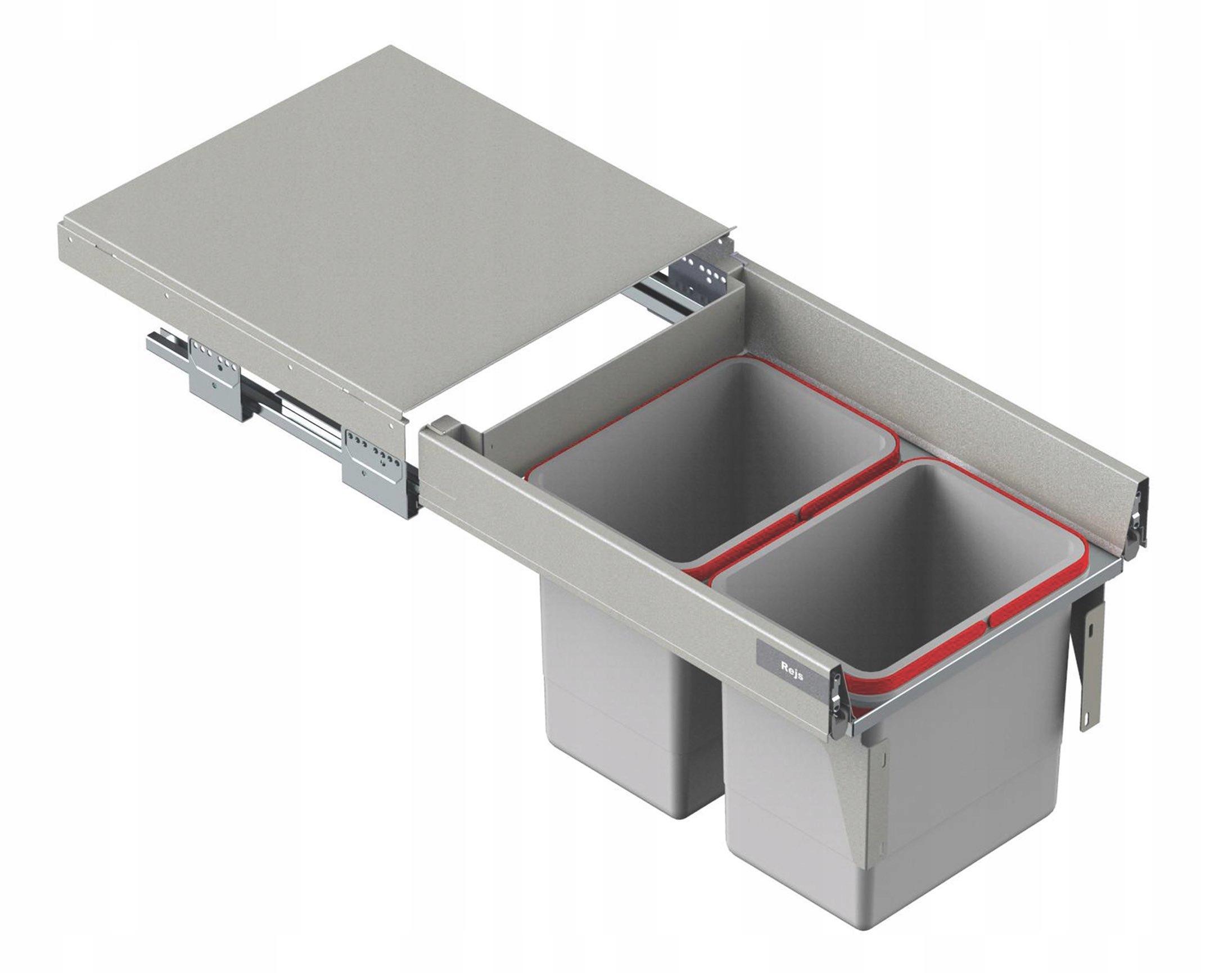 BOX NA ODPADOVANIE ODPADOVÉHO ODPADU 2x15 L PREDNÉ 45 L-500