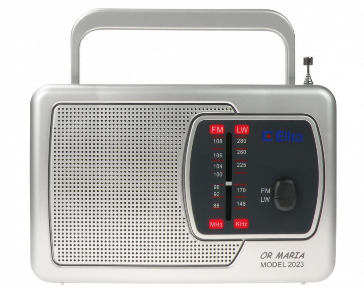 ELTRA Rádio prenosné retro-MARIA-Strieborná