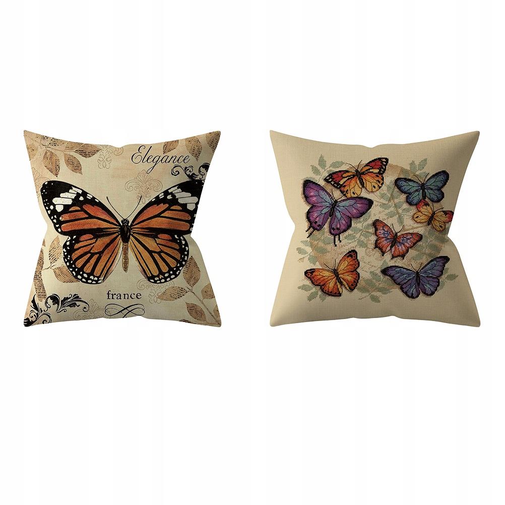 4 ks Retro motýľové obliečky na vankúše Obliečky na vankúše č