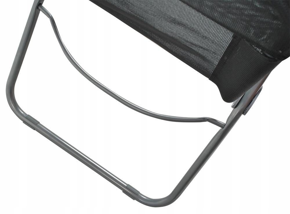 Leżak Plażowy Fotel Ogrodowy Składany Grawitacyjny Szerokość (krótszy bok) 49 cm