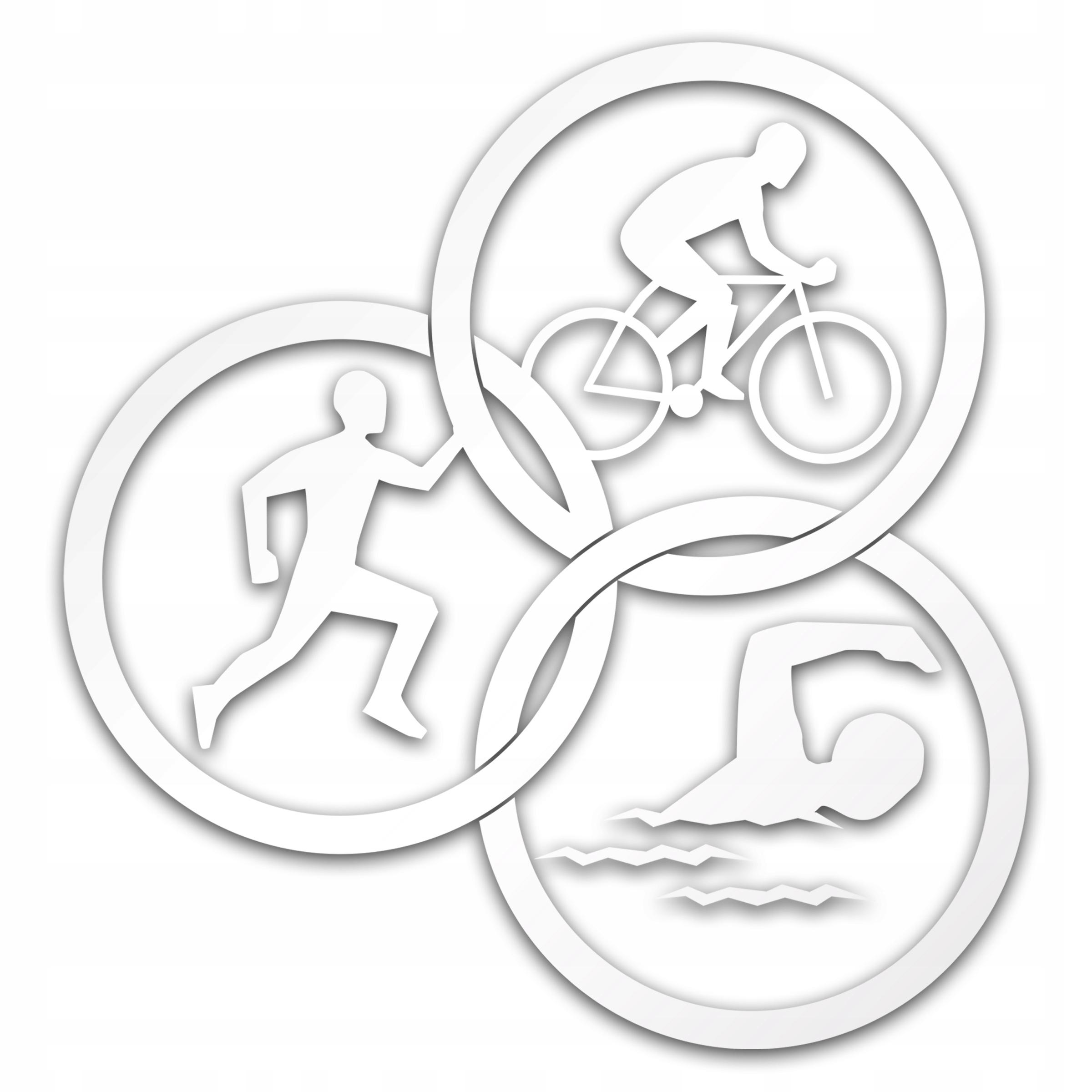 Triathlon Hobby Sport Reflexné Sticker pre Auto