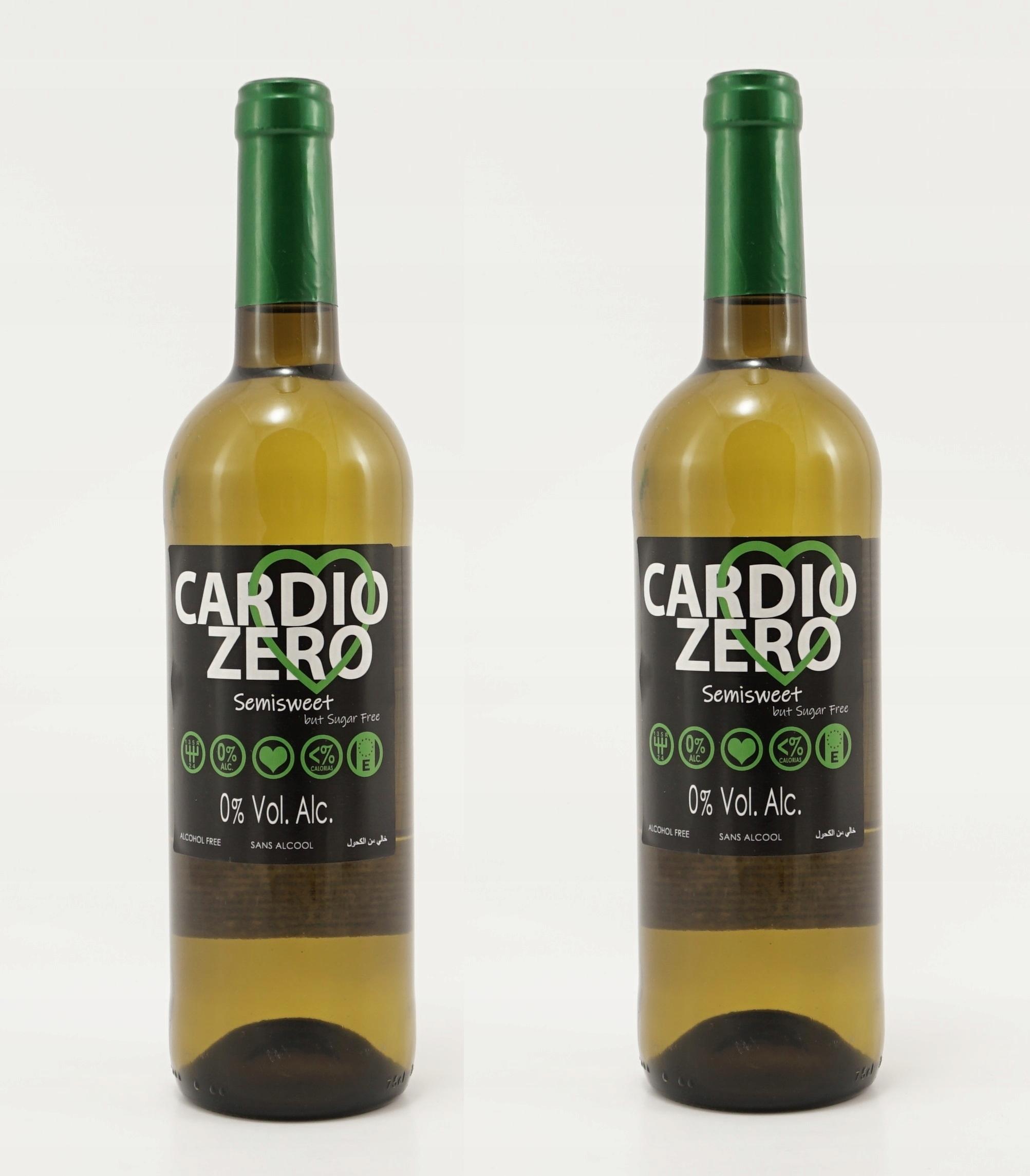Cardio Zero белое полусладкое безалкогольное вино