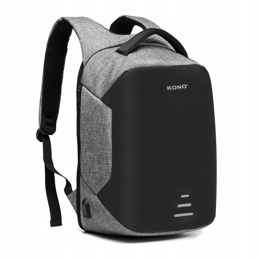 Купить Жесткий рюкзак для ноутбука 15.6 Rigid USB Carbon на Otpravka - цены и фото - доставка из Польши и стран Европы в Украину.