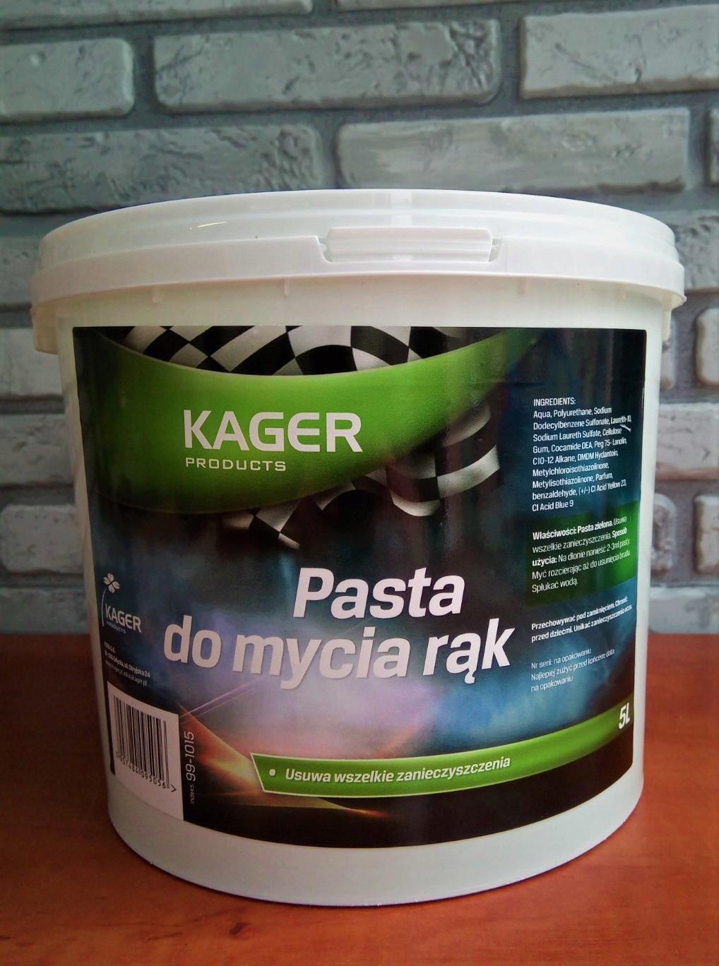 KAGER Handpaste для охраны труда и техники безопасности 5 л оригинал удаляет жир