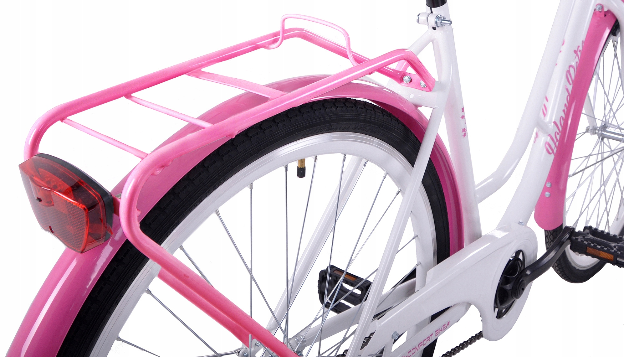 CITY BIKE 28 HOLANDSKO RETRO bielo-ružová + košík Veľkosť rámu 20 palcov