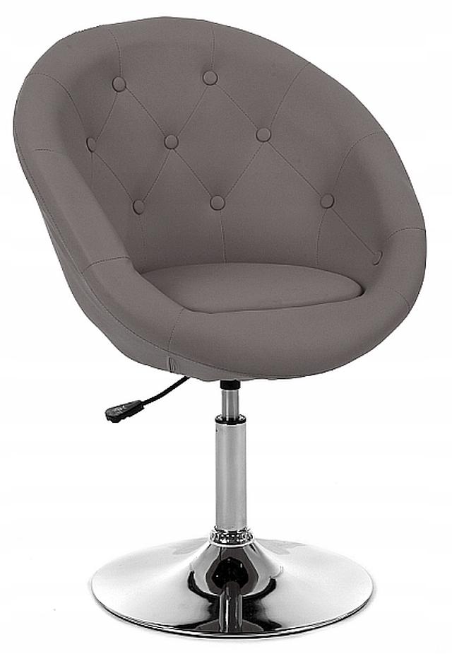 Большое кресло, табурет ANGELO, светло-коричневый, экокожа