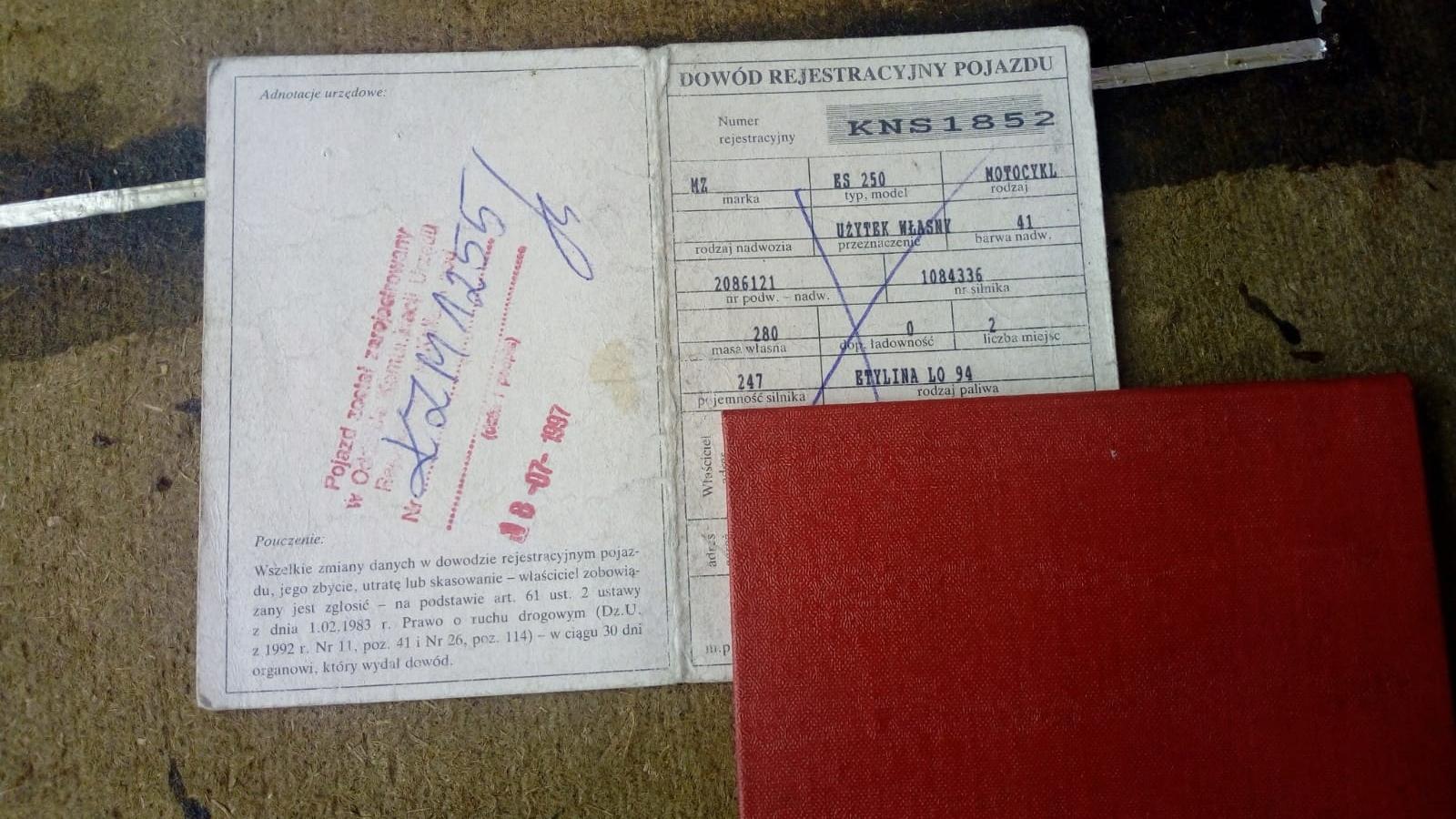 Коллекторское свидетельство о регистрации МЗ ЭС 250/1984.
