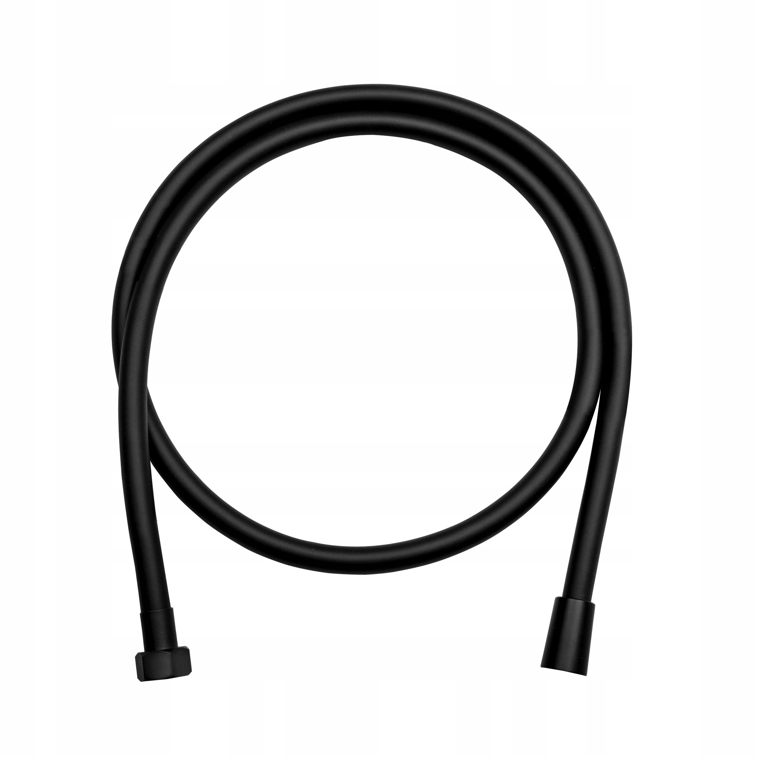 Wąż prysznicowy ze stali OBROTOWY kolor czarny
