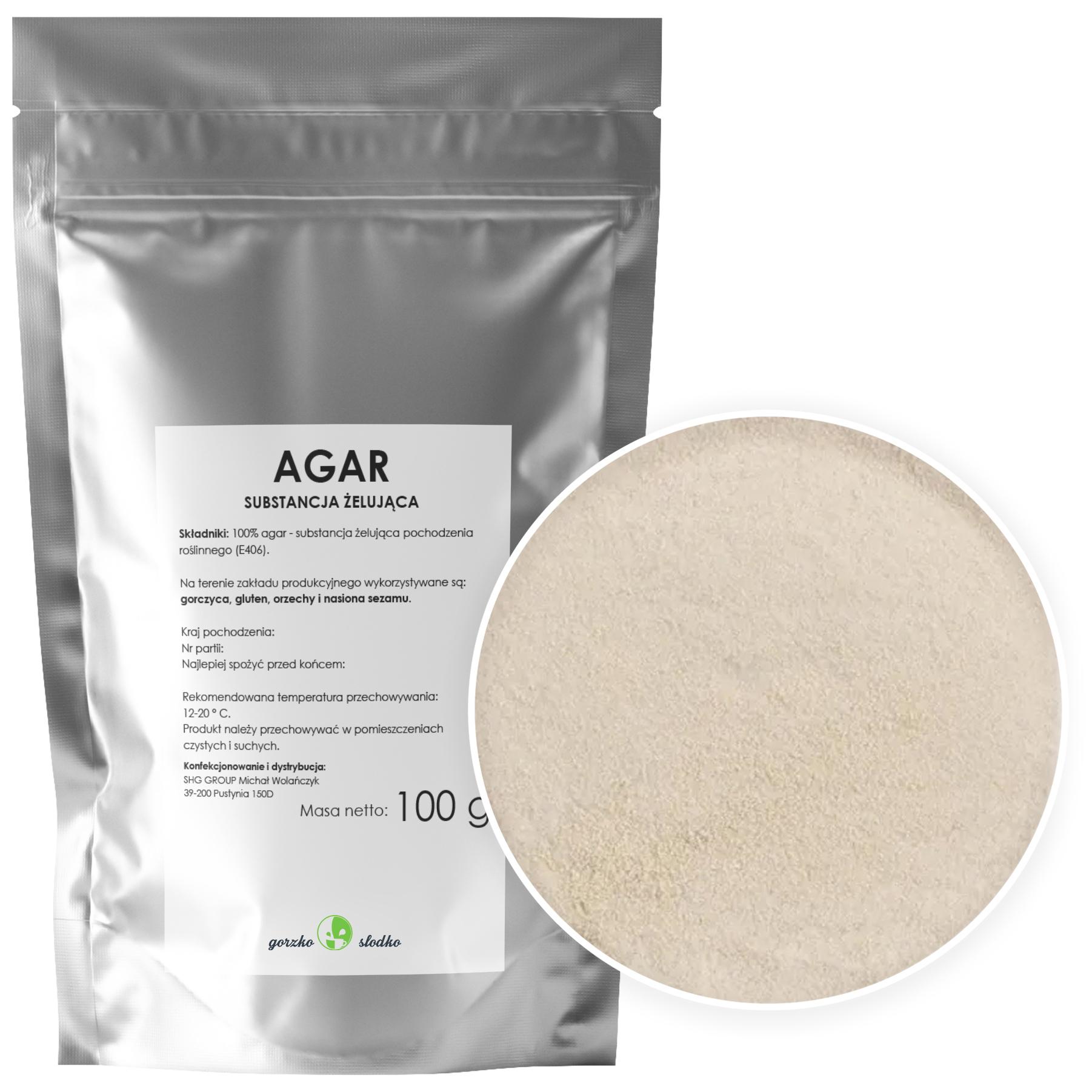 Желирующее вещество AGAR желатин растительный 0,1 кг