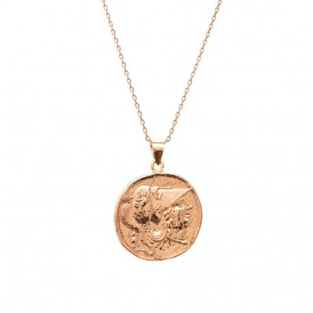 Naszyjnik srebrny pozłacany z monetą 2, Ania Kruk