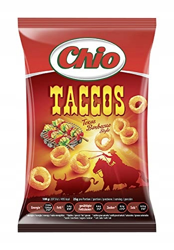 Chio Chips Taccos Texas BBQ, Box (12x75g)
