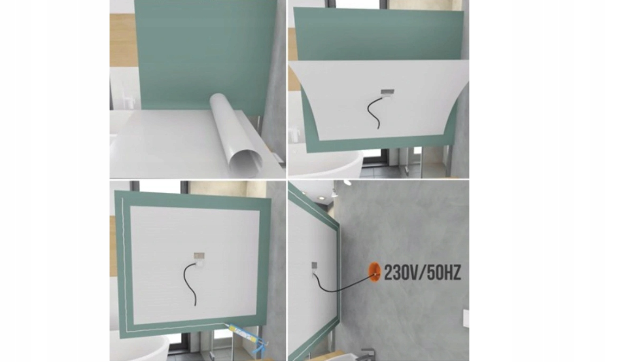 Folia mata grzewcza pod lustro antypara 70 x 90 cm Kod produktu TF-AF-6