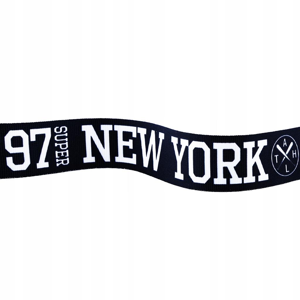 Taśma rypsowa 30MM lampas NEW YORK 1MB czarna 2252