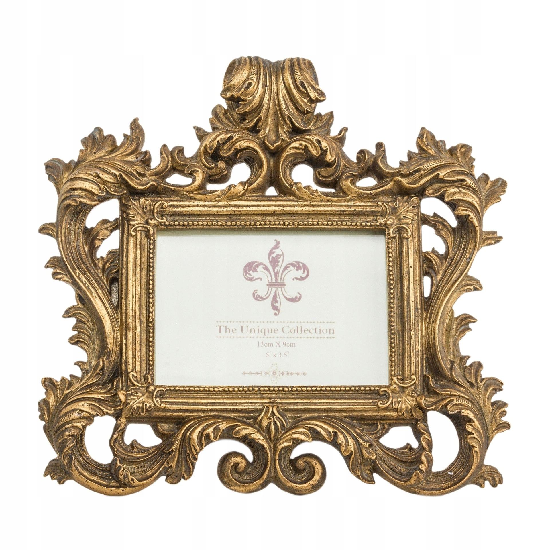 Zlatý barokový retro fotorámik