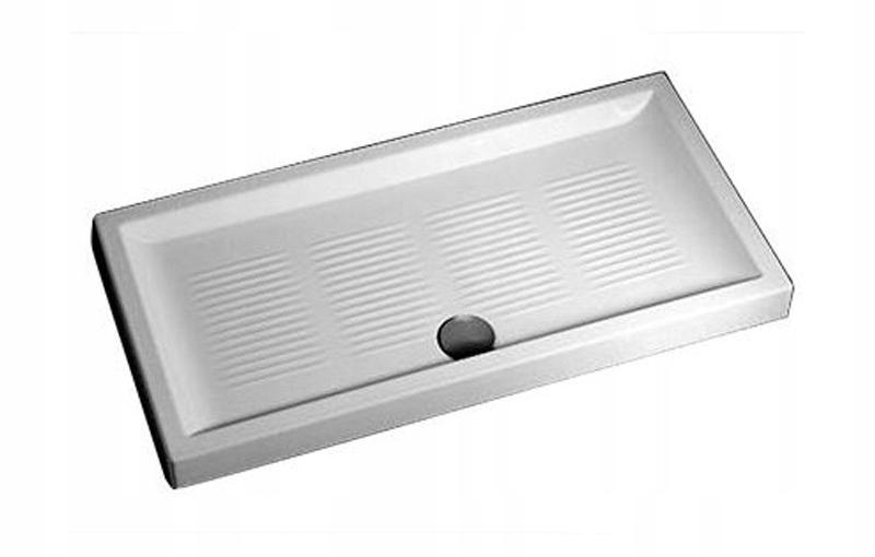 NEMECKO Hlboká keramická sprchová vanička 120x80x11
