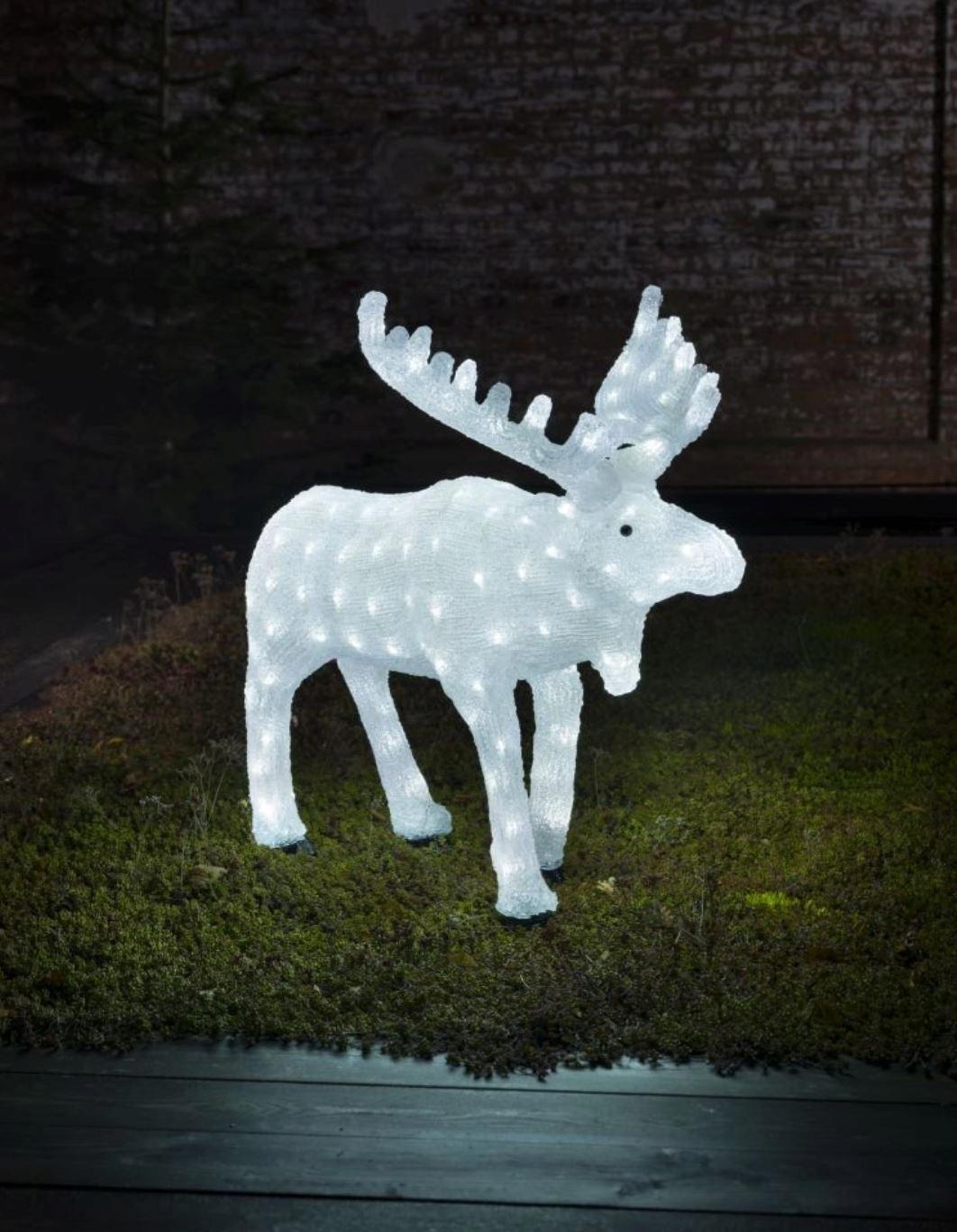 LED акриловый олень лось