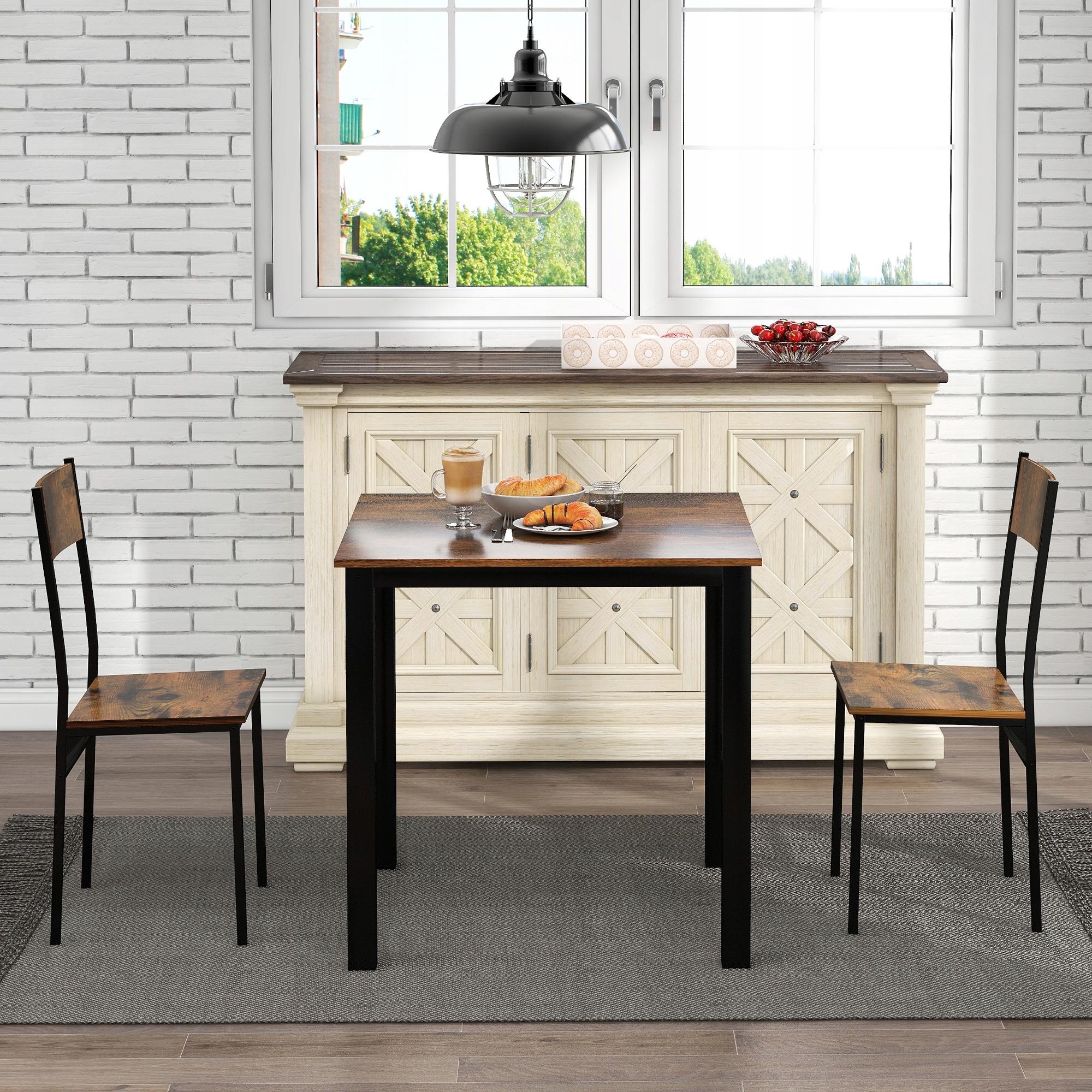 Группа, стол с 2 стульями, для гостиной, винтажная бронза