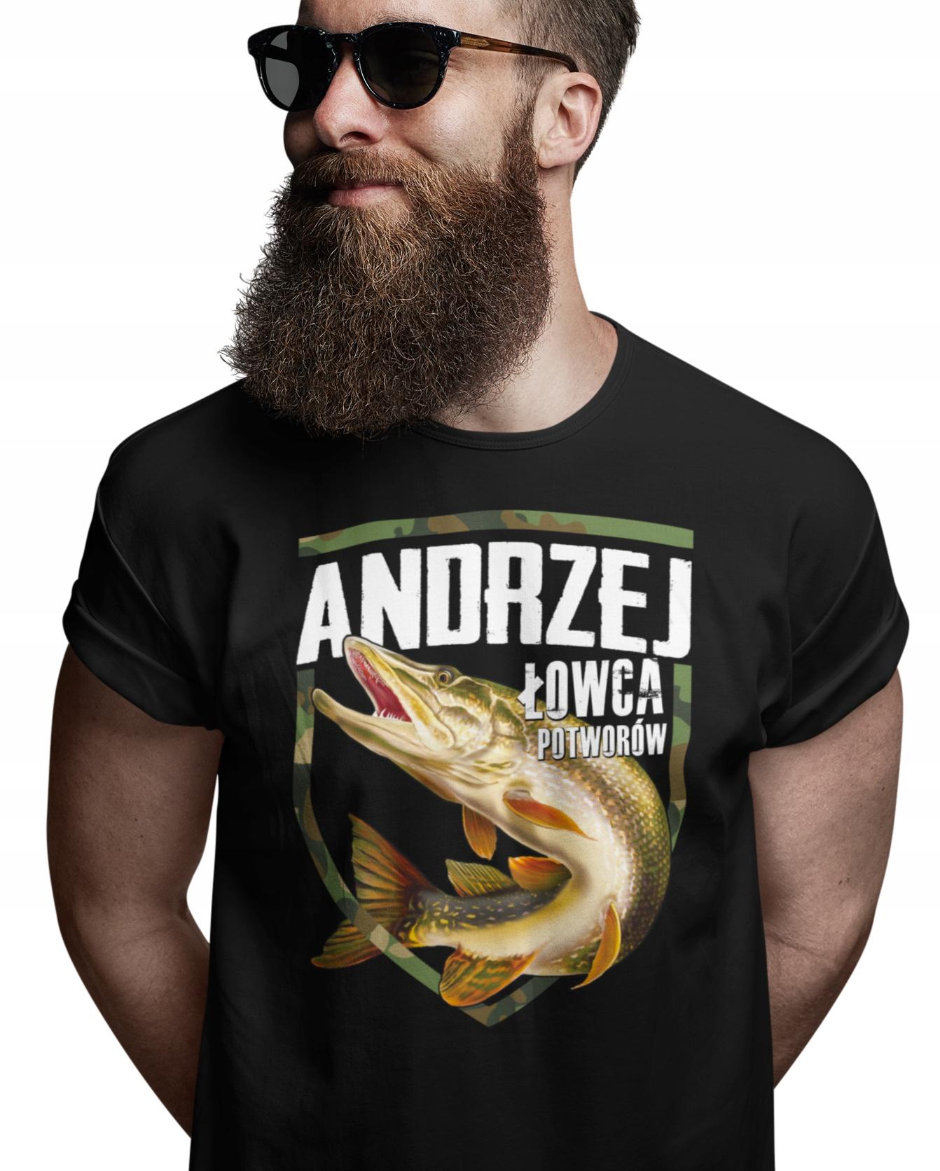 PODAJ IMIĘ koszulka dla każdego WĘDKARZA WE25 Lw