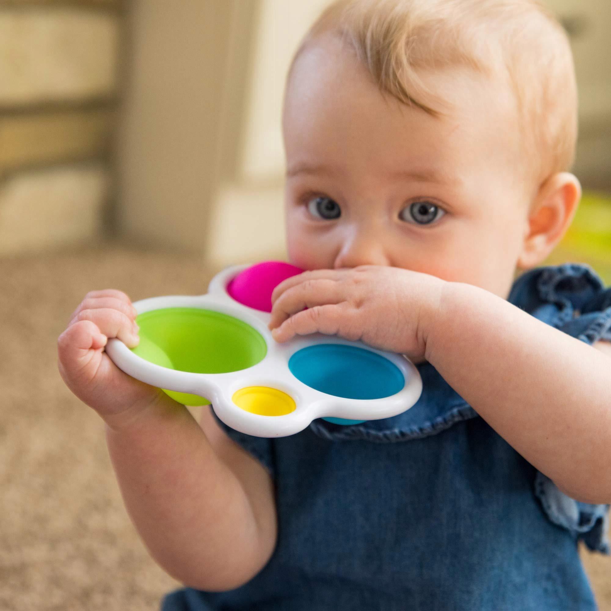 Kolorowe Bąbelki Dimpl zabawka sensoryczna POP Wiek dziecka 10 m +