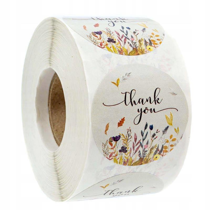 Декоративные наклейки Спасибо - дизайн 3, 500 шт.