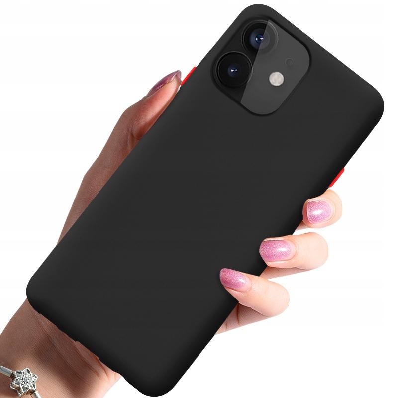 Etui do iPhone 12 Case Silikon + Szkło 9H Dedykowany model iPhone 12 / 12 Pro