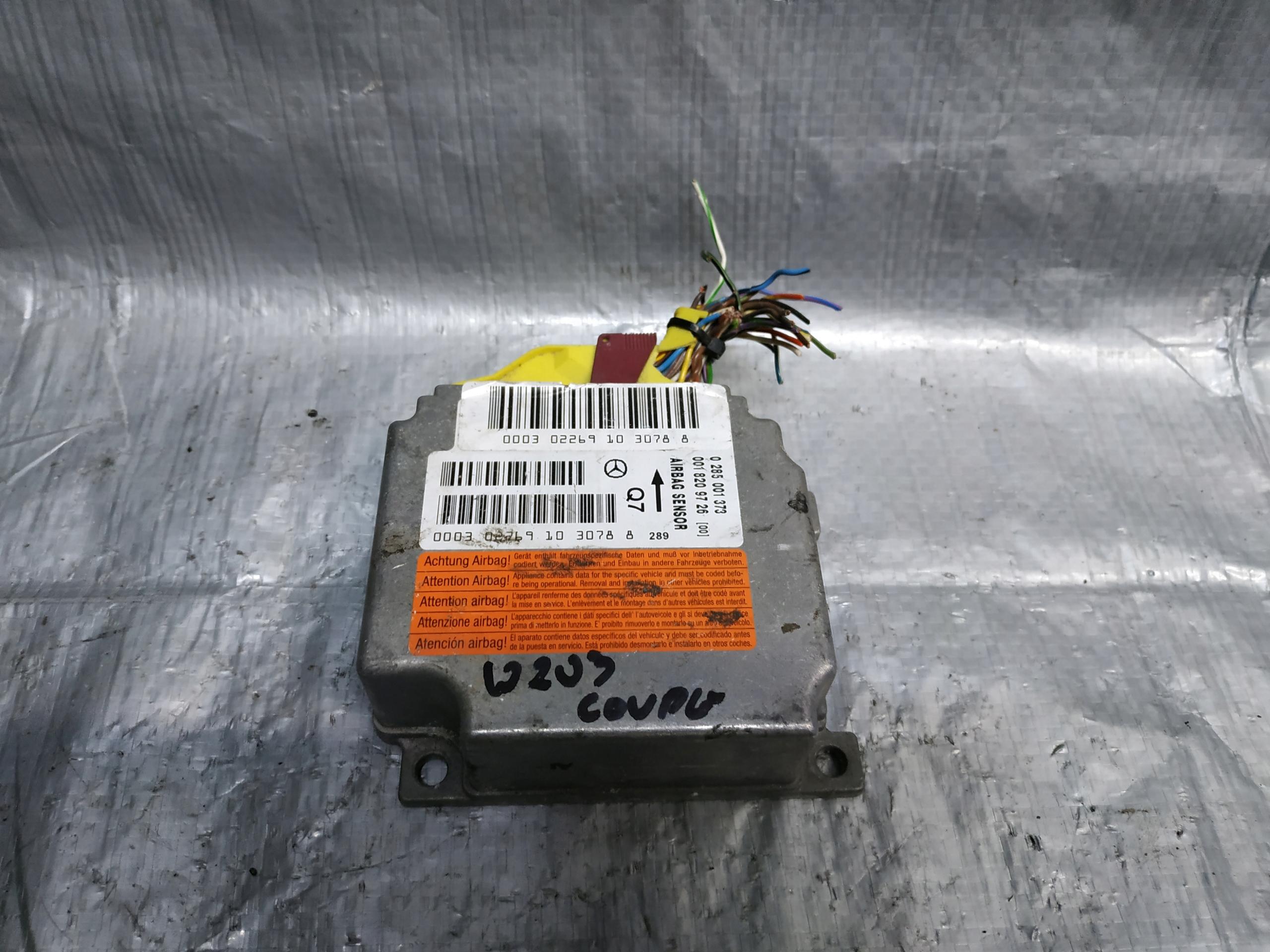 сенсор подушек airbag mercedes w203 0285001373