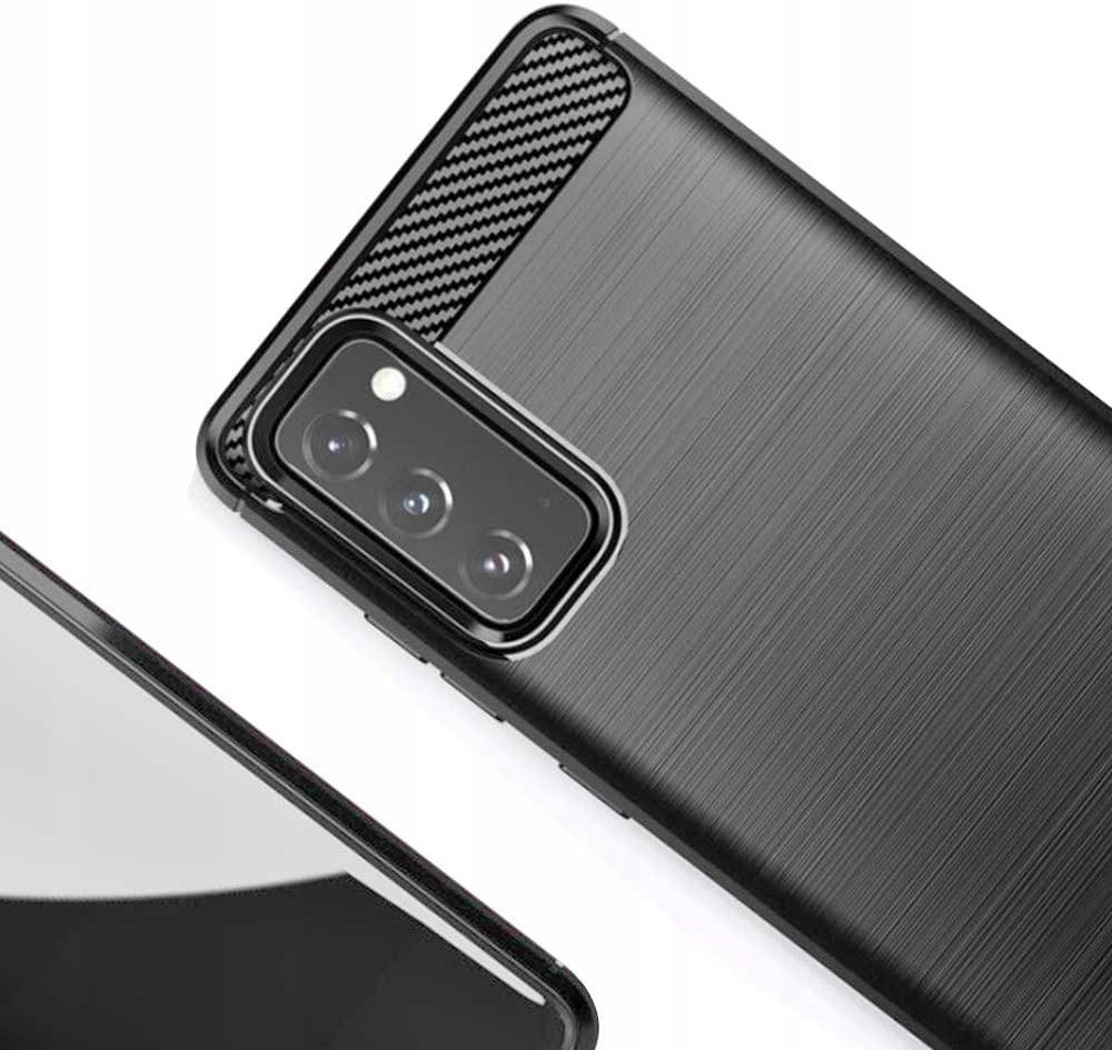 ETUI do Samsung Galaxy S20 FE KARBON CASE + SZKŁO Kolor czarny