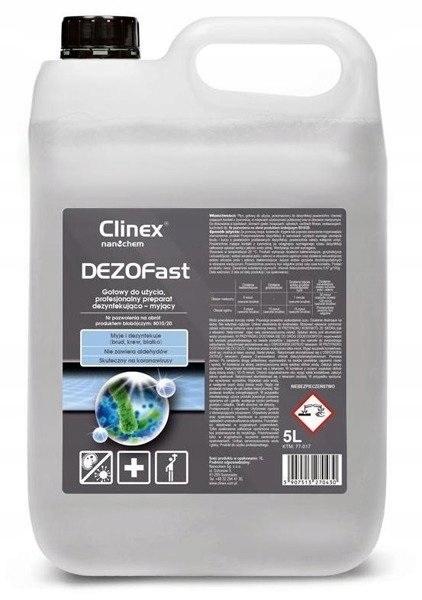 CLINEX DEZOFast płyn do dezynfekcji powierzchni 5l