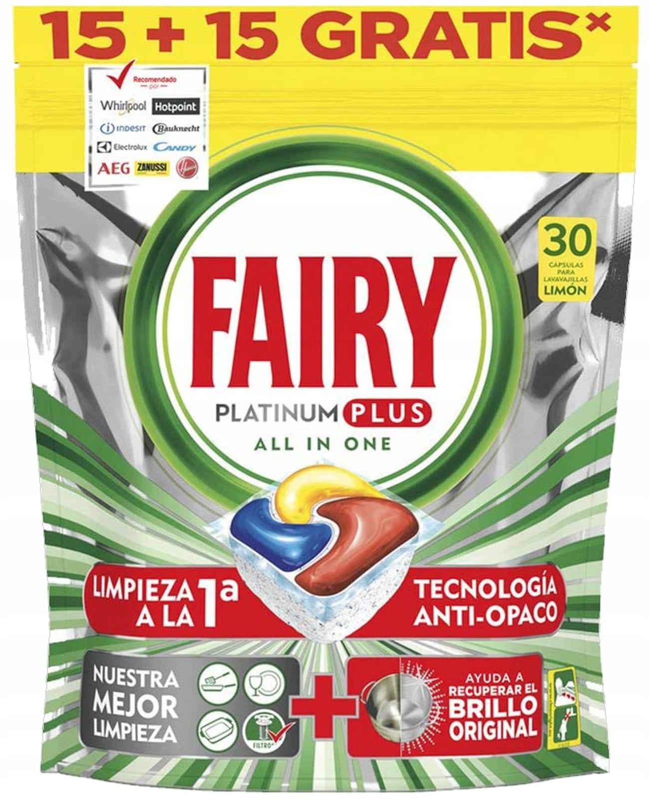 Fairy Platinum PLUS Таблетки для посудомоечных машин 30шт ES