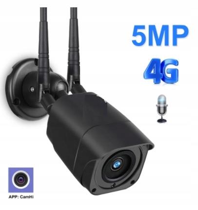 CZARNA KAMERA LTE 4G ZEWNĘTRZNA GSM 5Mpx internet