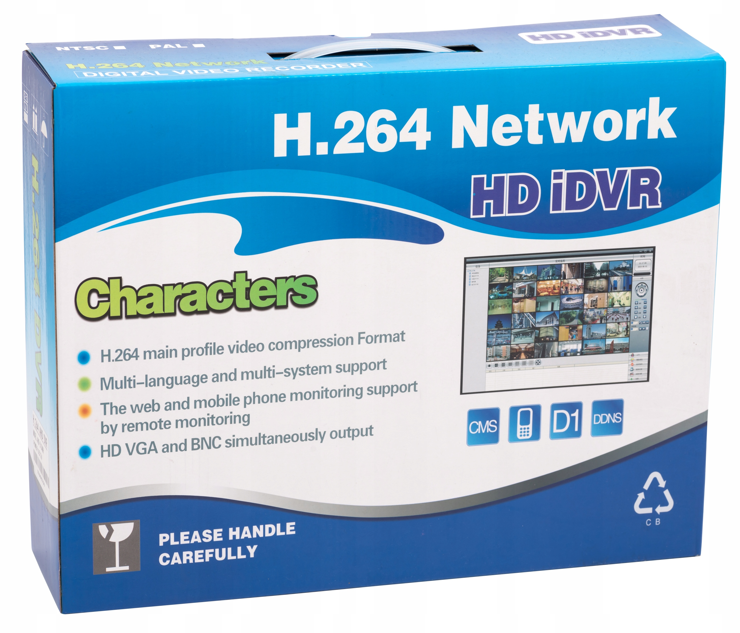 ZESTAW MONITORING REJESTRATOR 4 KAMERY HD Kod producenta monitoring domu hikvision kamery ip