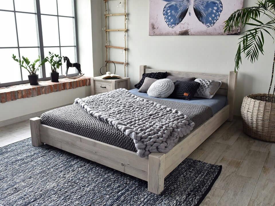 Drevená posteľ Krajiny-new-27 - 180 cm RETRO