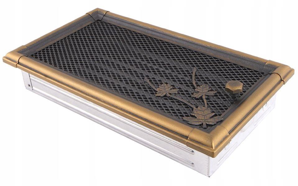 16x32 zlatá vetracia mriežka RETRO s uzáverom
