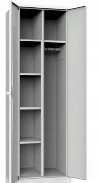 Szafa metalowa ubraniowa biurowa z półkami 180x60
