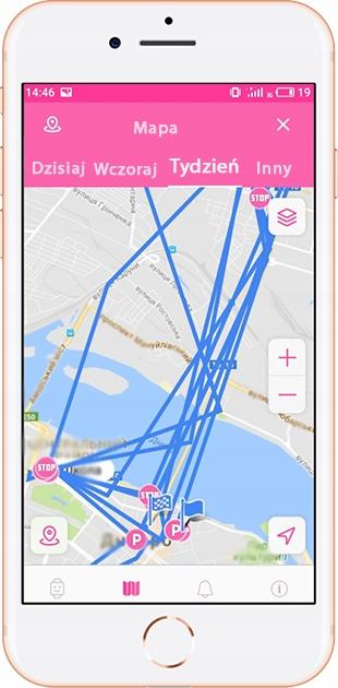 SMARTWATCH DLA DZIECI LOKALIZATOR GPS GoGPS K17 Wysokość koperty 54 mm