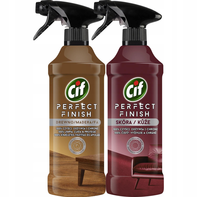 Cif Perfect Finish Spray Wood Leather 2x435ml