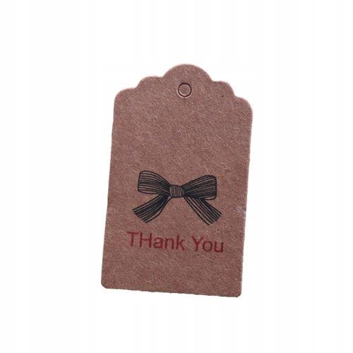 Этикетка картонная с ниткой Спасибо 10 шт.