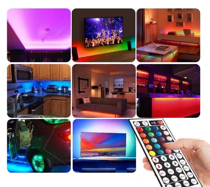 Fargerike lysdioder LED -STRIP MED FJERNKONTROLL 12 Watt effekt