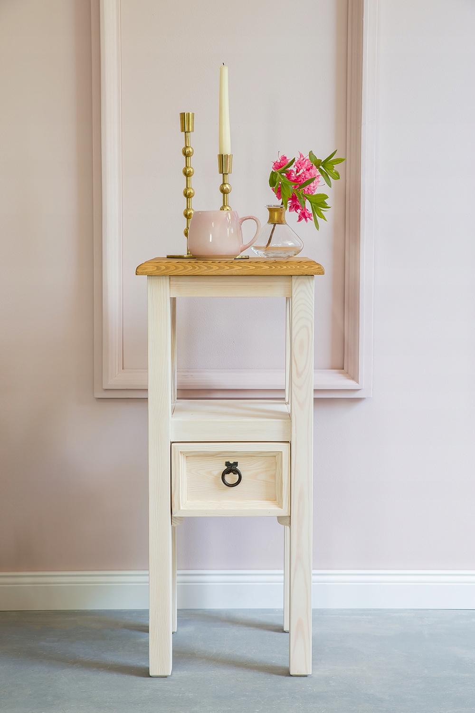 ++ Деревянный стол, белая клумба от производителя ++