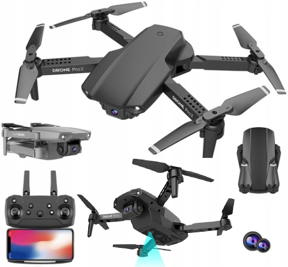 DRON E99 PRO 2 KAMERY 4K WIFI HD ZABAWKA RC ZOOM