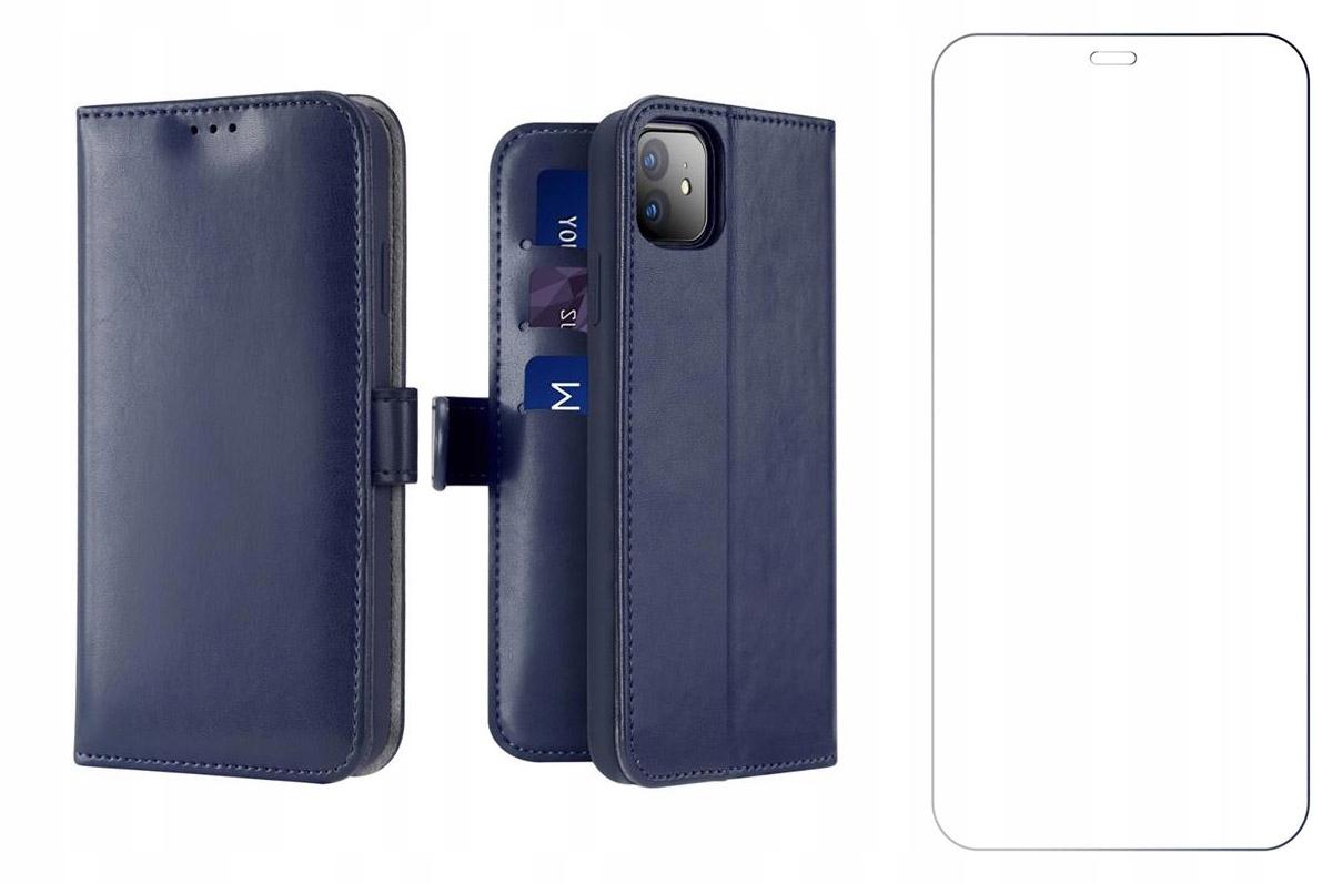 Etui Kado do iPhone 12 / 12 Pro niebieski + szkło