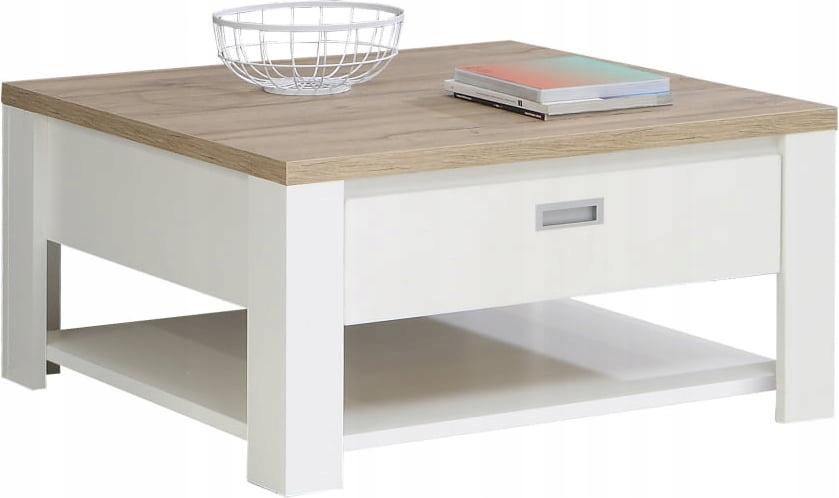 Журнальный столик скамья с Ящиком и Полка Coffee Cream