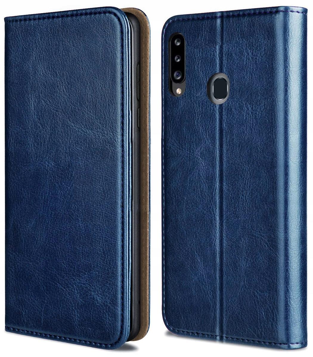 Etui do Samsung Galaxy A20S Skórzane Portfel Szkło