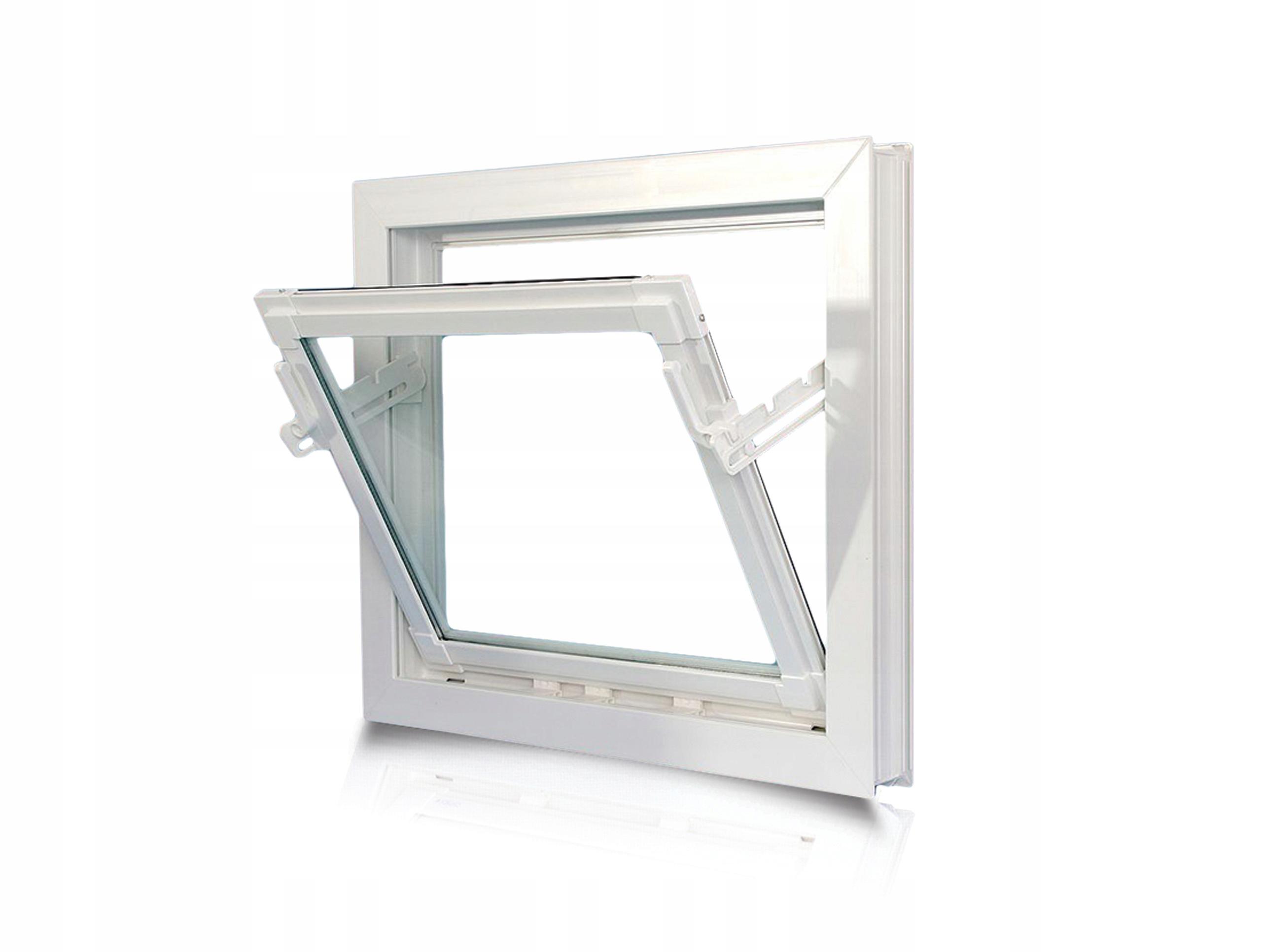 Okno INWENTARSKIE PCV oborowe 60x50 cm uchylne