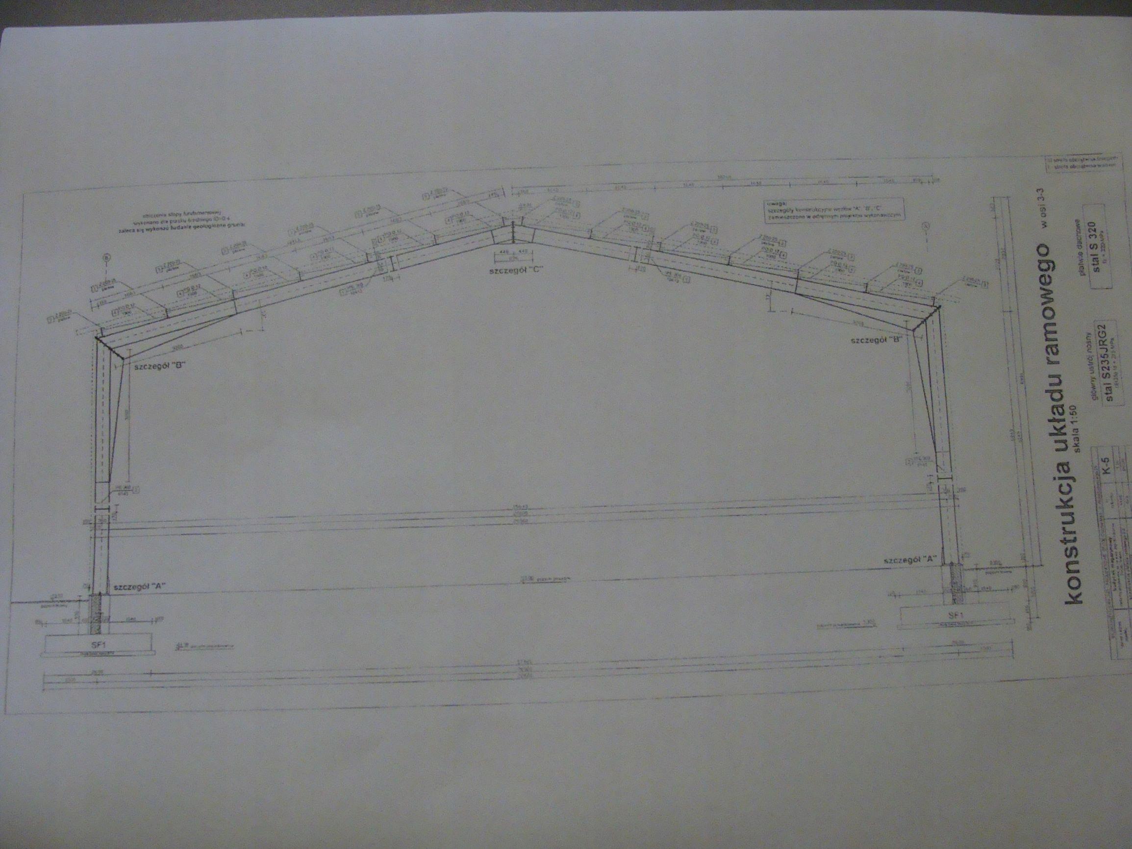 Konstrukcja stalowa hala wiata magazyn 20x54x6,2