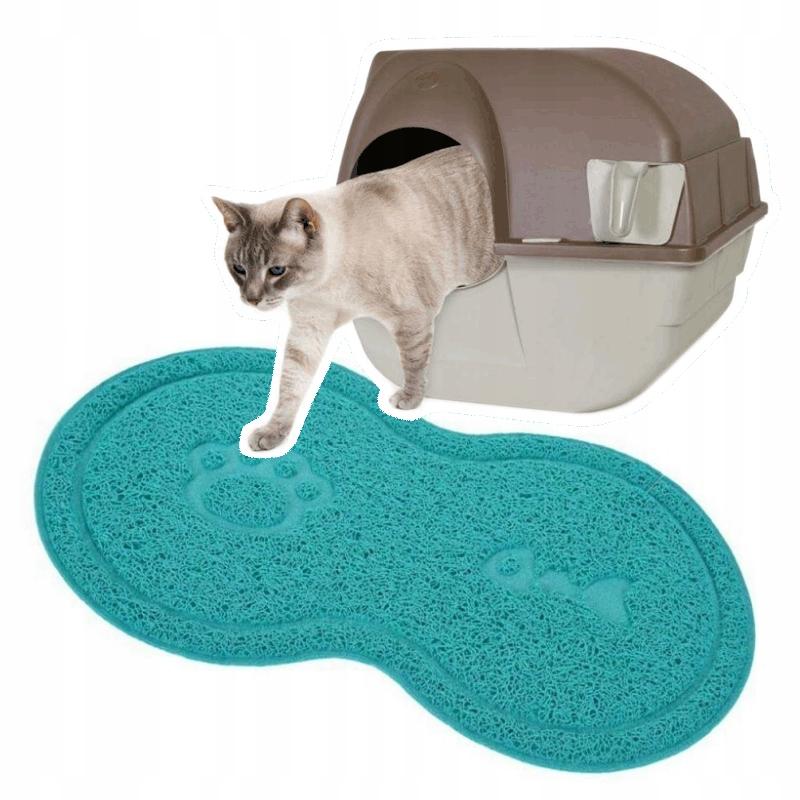 Подстаканник для кошки бирюзовый коврик